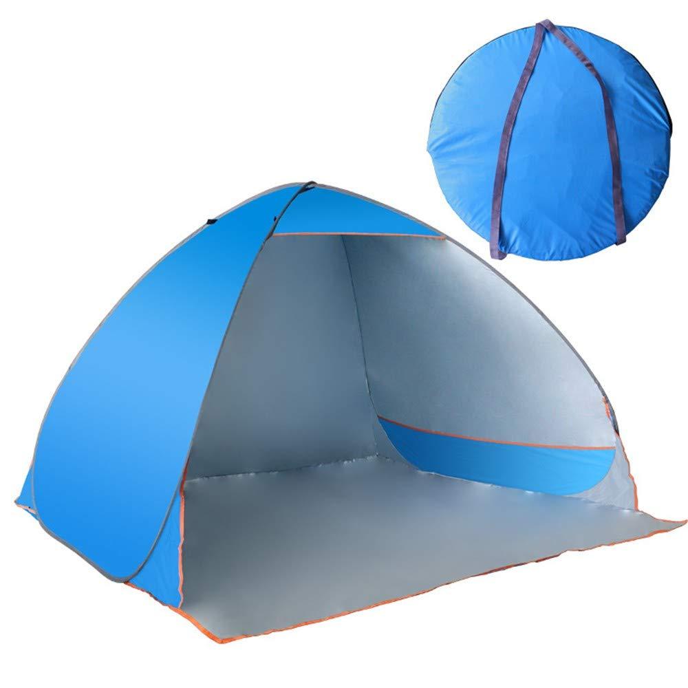 KCJMM Tentes de Plage, tentes extérieures Portables, tentes Anti-UV et Anti-UV entièrement automatiques pour 3-4 Personnes, adaptées à la Plage, au Camping, à la pêche