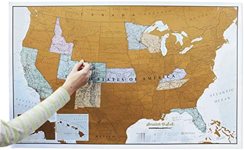 LOVATIC Scratch Off World Map Poster - US States and Flags. Scratcher and  cloth included. Excellent gift for travelers, Easy To Scratch - Clean  Design ...