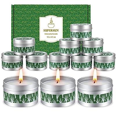 12 Stück Duftkerze Zitrusfrüchten Lemon, Geschenkset Frauen Schöne Kerzen Duftkerzen Set Weihnachten Geschenkset für…