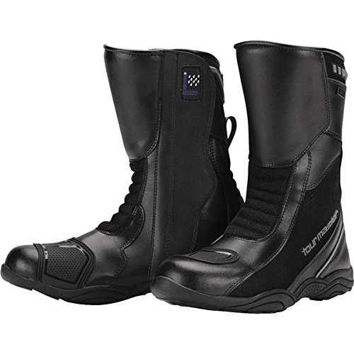 Tour Master Solution WP Air Road Womens Leather Street Motorcycle Boots - Black/Size 8