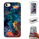 003664 - Oil Paint Canvas Abstract Design iphone SE -2016 / iphone 5 5S Fashion Trend CASE Gel Rubber Silicone Complete 360 Degrees Protection Flip Case Cover