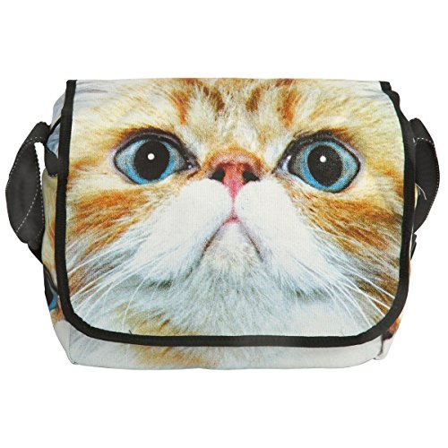 Unisign Damen Schultertaschen medium Katzen Cats Umhängetasche