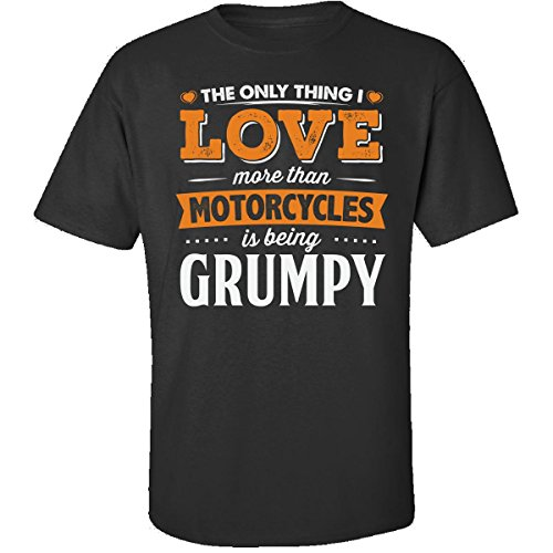 My Family Tee Love Being Grumpy More Than Motorcycles Biker Gift - Adult Shirt XL Black