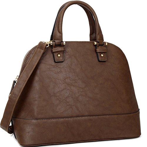 Handle Purse Shape Satchel Large Handbag Coffee Bag Shell Dome Shoulder Top U1wAxTq