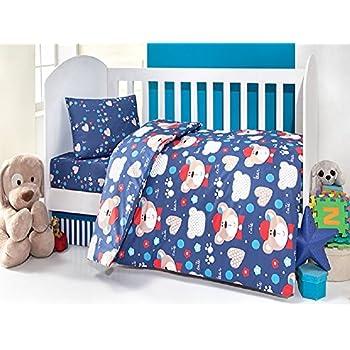 Brielle Toddler Duvet/Quilt Cover Set Bedding Set 100% Ranforce Cotton Turkish Cotton Comforter