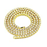 Angelcrab 18'' 22'' 26'' 36 inches Punk Hip Hop Round Cut 5mm Cubic Zirconia Tennis Chain Necklace (20)