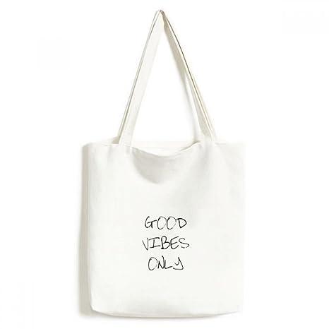 Good Vibes solo frase bolsa de lona medio bolsa de regalo ...