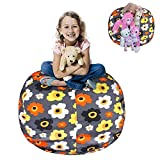 38'' Stuffed Animal Storage Bean Bag Chair for Toys Clothes Towels Blankets Pillows Sheets