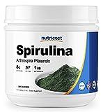 Nutricost Spirulina Powder 1 LB - Pure Spirulina Powder; 8000mg Per Serving, 57