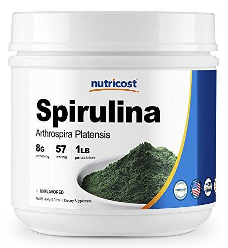 Nutricost Spirulina Powder 1 LB - Pure Spirulina Powder; 8000mg Per Serving, 57 Servings - Highest Quality Spirulina