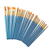 Acrylic Tiny Paint Brushes - Aolvo 30 PCS Miniature Paint Brushes - Nylon Hair Artist Detail Paint Brushes Kit for Art Painting, Oil - Models, Watercolor, Nail Art and Body Painting