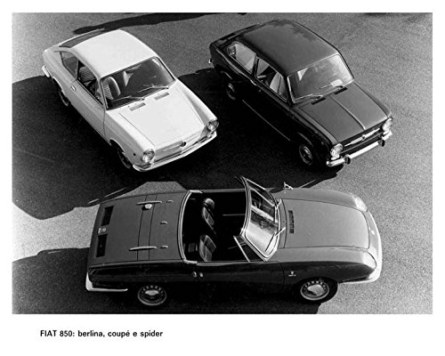 850 Fiat Spider (1966 Fiat 850 Spider Coupe Berlina Automobile Photo Poster)