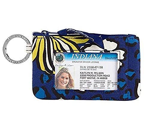 Vera Bradley Zip ID, Woman's Wallet, Card Holder African Violet by Vera Bradley