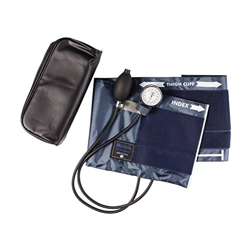 Aneroid Sphygmomanometer Series Precision (Mabis Precision Series Aneroid Sphygmomanometer Manual Blood Pressure Monitor, Cuff Size 16.1 to 24.2 inches, Thigh)