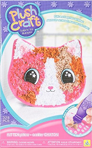 - THE ORB FACTORY LIMITED 10027977 Plush Craft Kitten Pillow, 7.5