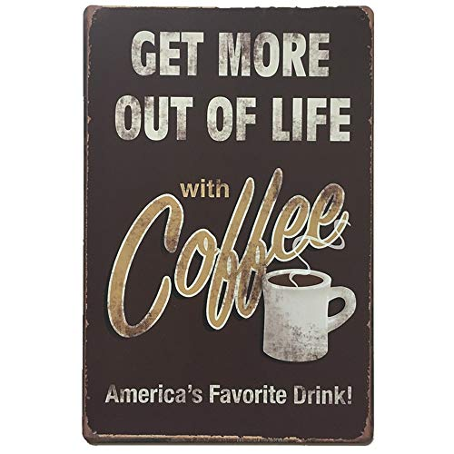 HADIY Cool Retro Vintage Metal Poster Paintings Hanging Tin Sign Wall Iron for Cafe Bar Pub Beer Wall Decor (F) ()