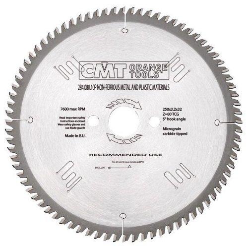 CMT Orange Tools 284, 080, 10P aluminium pour scie circulaire 250 x 32 x 80 z 3, 2 tcg 5 degré s pos. 2 tcg 5 degrés pos. 284.080.10P