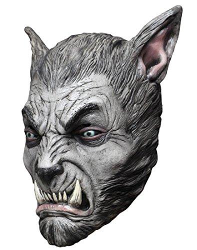 Beast Silver Wolf Latex Mask (Mask Head Werewolf Beast Silver Wolf)