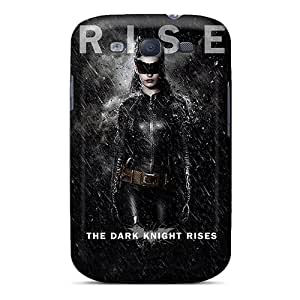 Rugged Skin Case Cover For Galaxy S3- Eco-friendly Packaging(catwoman The Dark Knight Rises)