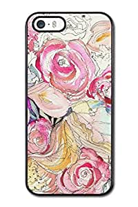 Generic High Quality Snap On Neon Blooms Design Polycarbonate (PC) Hard Cellphone Case Back Skin Cover Protector For iPhone 5,5S (Choose from Black and White)