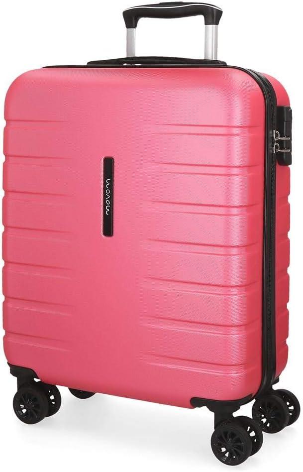 Maleta de cabina rígida Movom Turbo rosa