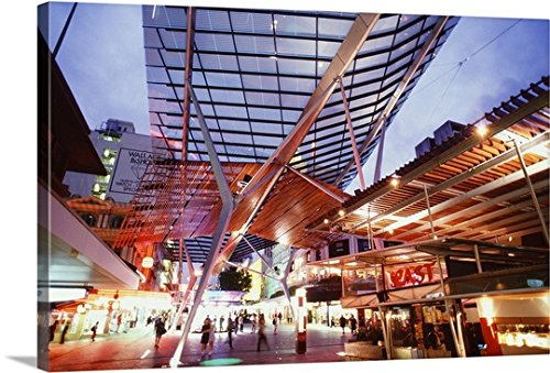 Guido Cozzi Premium Thick-Wrap Canvas Wall Art Print entitled Australia, Queensland, Brisbane, The - Brisbane Malls