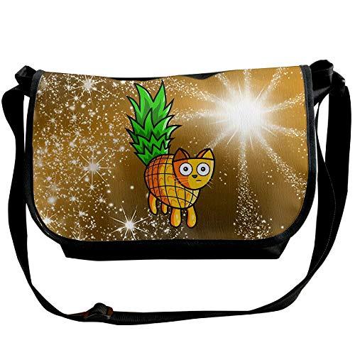 Bags Fashion Pineapple Sling Bag Travel Unisex Black Cat Glitter Handbag Satchel rATqAY0w