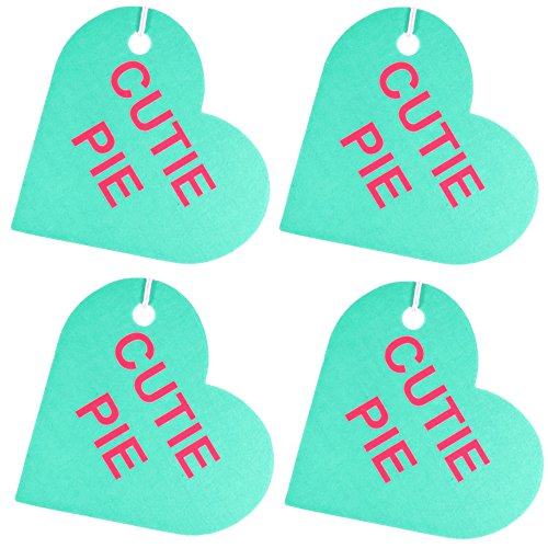 Cherry Almonds Pie (Set of Four Conversation Hearts Air Fresheners, Almonds And Cherries, Cutie Pie)