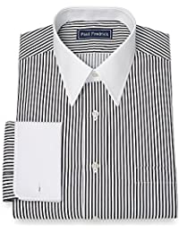 Men's Slim Fit Cotton Stripe Dress Shirt