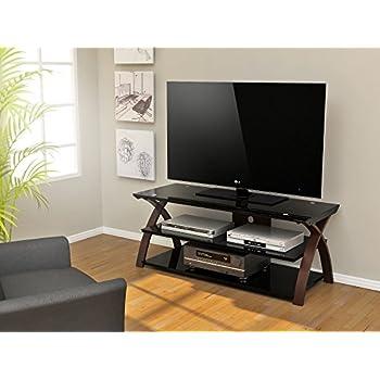z line designs willow tv stand 55 inch brown kitchen dining. Black Bedroom Furniture Sets. Home Design Ideas