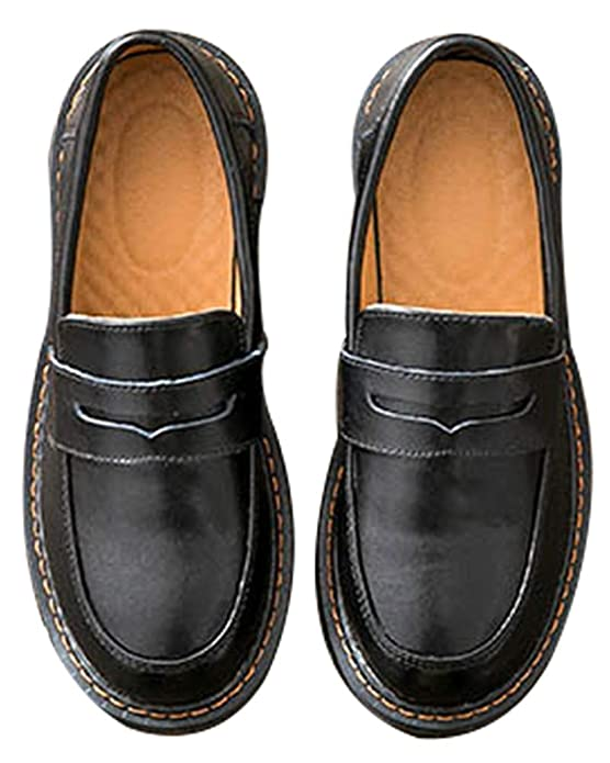 Amazon.com | Womens Casual Genuine Leather Penny Loafers Driving Moccasins Slip-On Boat Flats Shoes | Loafers & Slip-Ons