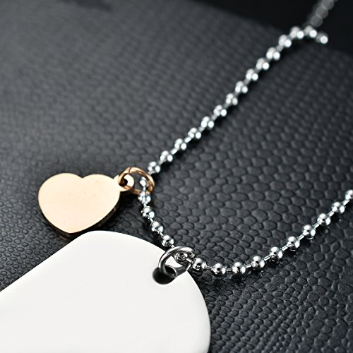 NOVLOVE To my daughter from mom Stainless Steel Dog Tag Letters To my daughter never forget how.love mom Pendant Necklace,Inspirational Gifts For daughter Jewelry by NOVLOVE (Image #4)'