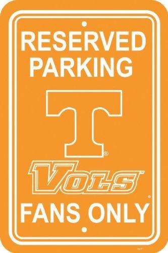 Fremont Die NCAA Tennessee Volunteers 12-by-18 inch Plastic Parking Sign
