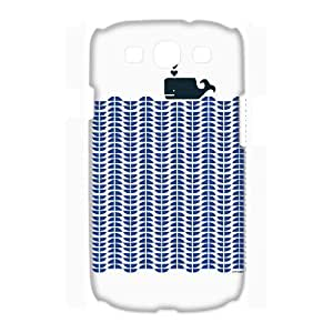 3D Samsung Galaxy S3 Cases such a Chic Little Whale, [White]