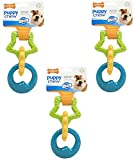 (3 Pack) Nylabone Just For Puppies Triple Teething Ring Chew Toy For Sale