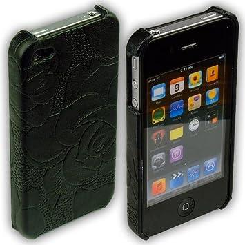 ABZ-S - Carcasa trasera para iPhone 4S, iPhone 4 - Negro con ...
