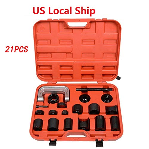 (VICCKI 21PCS Ball Joint Auto Repair Tool Service Remover Installer Master Adapter Kit)
