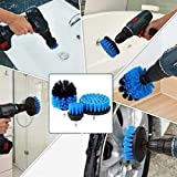 ThinIce 3 Piece Drill Brush Attachment Set - Power Scrubbers for Cleaning - All Purpose Drill Scrub Brushes Kit for Grout, Floor, Tub, Shower, Tile, Corners, Bathroom and Kitchen Surface (Blue)