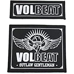 Volbeat Embroidered Outlaw Gentleman Patch 2 Piece Set