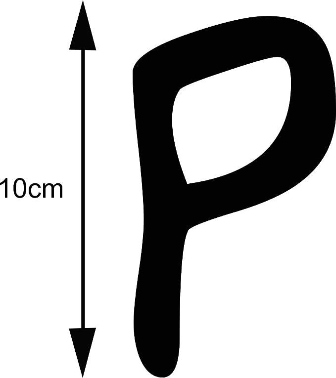 Selbstklebende Hausnummer Buchstabe Ziffer Kleben statt Bohren Aufkleber f/ür den Aussenbereich a silber 10 cm hoch