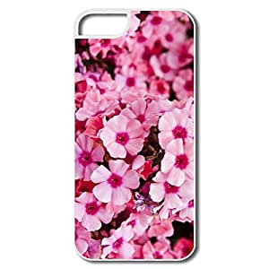 IPhone 5S Case, Pink Garden Flowers White Case For IPhone 5/5S