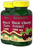Carlyle Black Cherry Extract 1400mg 240 Capsules | Non-GMO, Gluten Free | from Concentrate