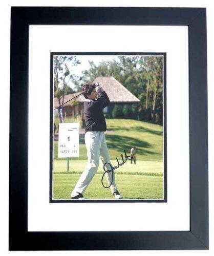 Signed Julie Inkster Picture - 8x10 BLACK CUSTOM FRAME - PSA/DNA Certified - Autographed Golf Photos - Julie Inkster Memorabilia