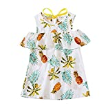 BOBORA Baby Girl Floral Dress Kid Party Wedding Pageant Formal Prom Princess Dress