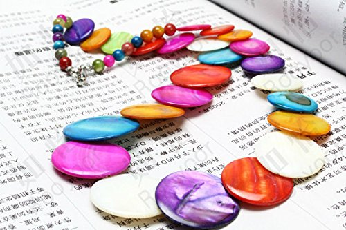 usongs Color shell disc necklace pendant ultra-stylish pearl natural mother pearl Jewelry/fashion jewelry super cute