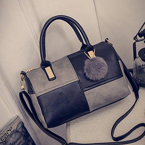 Highdas Frauen PU Leder Handtaschen Crossbody Schultertasche ,Frauen Splice Handtasche ,Fashion Damen-Handtaschen