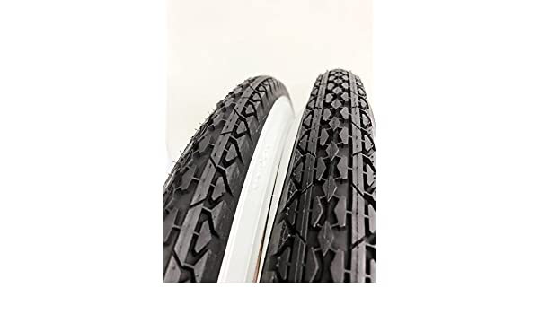 2 TWO DURO 24X2.125 DIAMOND PATTERN BEACH CRUISER BICYCLE TIRES /& 2 TUBES
