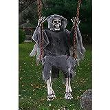 Swinging Dead Reaper Hanging Prop