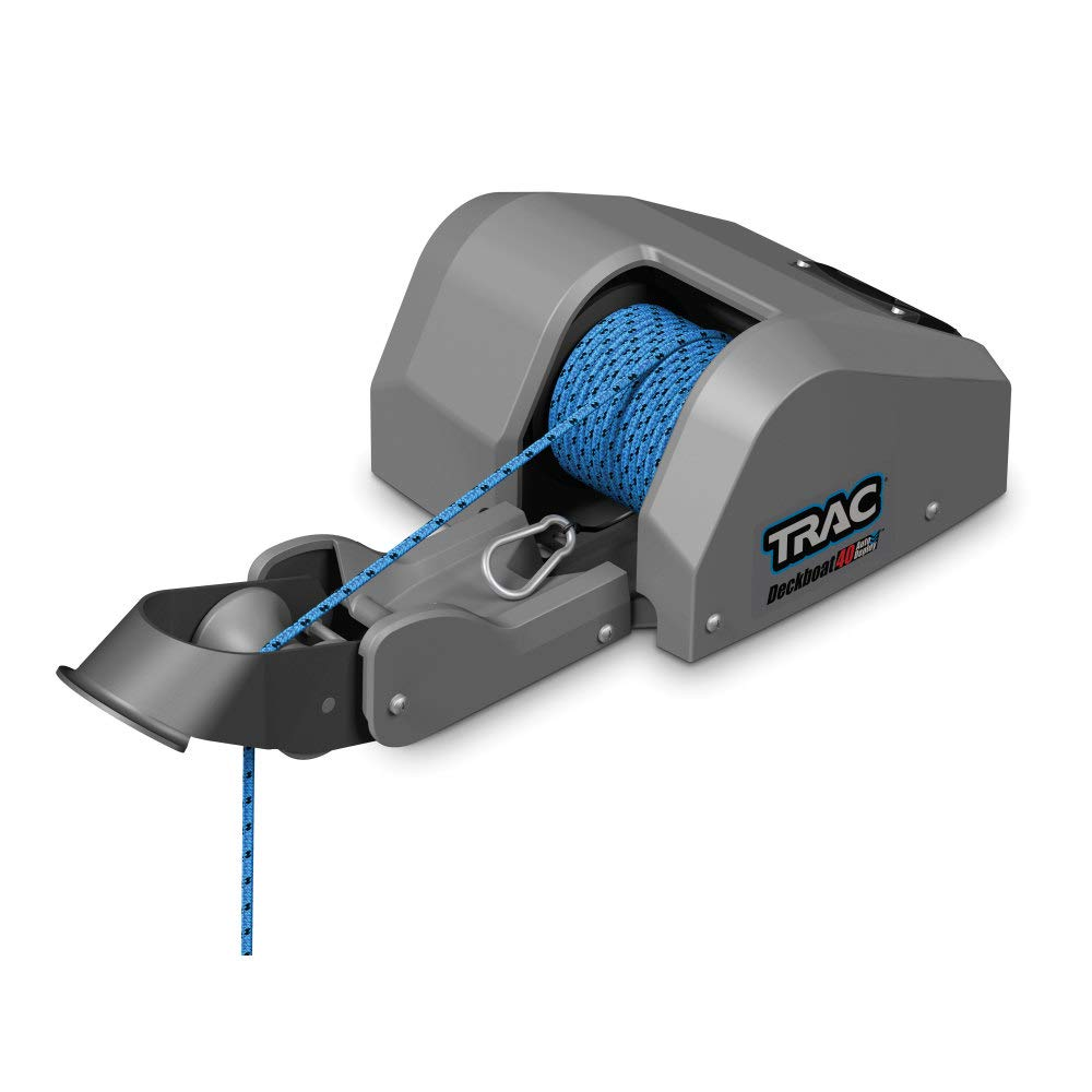 Trac Outdoors Deckboat 40 AutoDeploy-G3 Electric Anchor Winch - Anchors Up to 40 lb. - Includes 100-feet of Pre-Wound Anchor Rope with Use (69005)