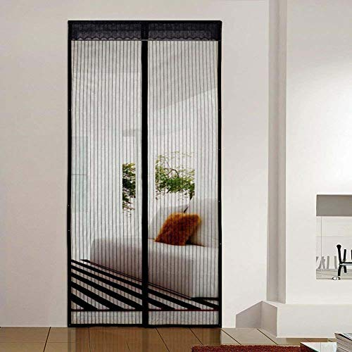 - XUENUO Magnetic Screen Door Mesh Curtain, 39X87 Soft Door Curtain Screen Mesh Curtain Doors Shut Automatically Easy to Install Let Fresh Air,120×230cm(47×91in)